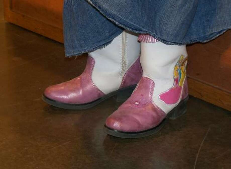 Colleen Freeman's princess boots light up when she walks. The fashion-forward 4-year-old is from Pearland.