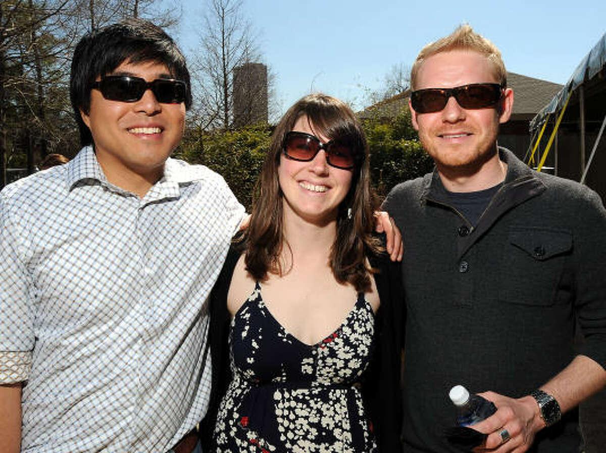 From left: Jason Mendoza, Sharon Siehl and Lukasz Maslanka