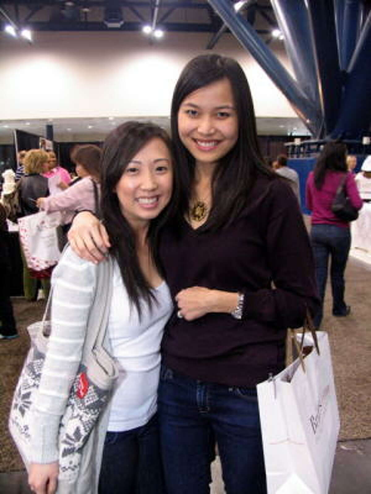 Trang Nguyen, left, and Ani Tran