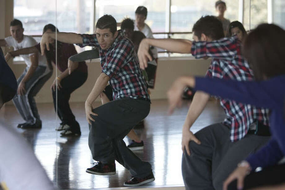 """""""The moves are going to be really weird,""""  Phillip Chbeeb warned his students at King's Dancing Center the weekend of Feb. 27. Photo: Mayra Beltran, Chronicle"""