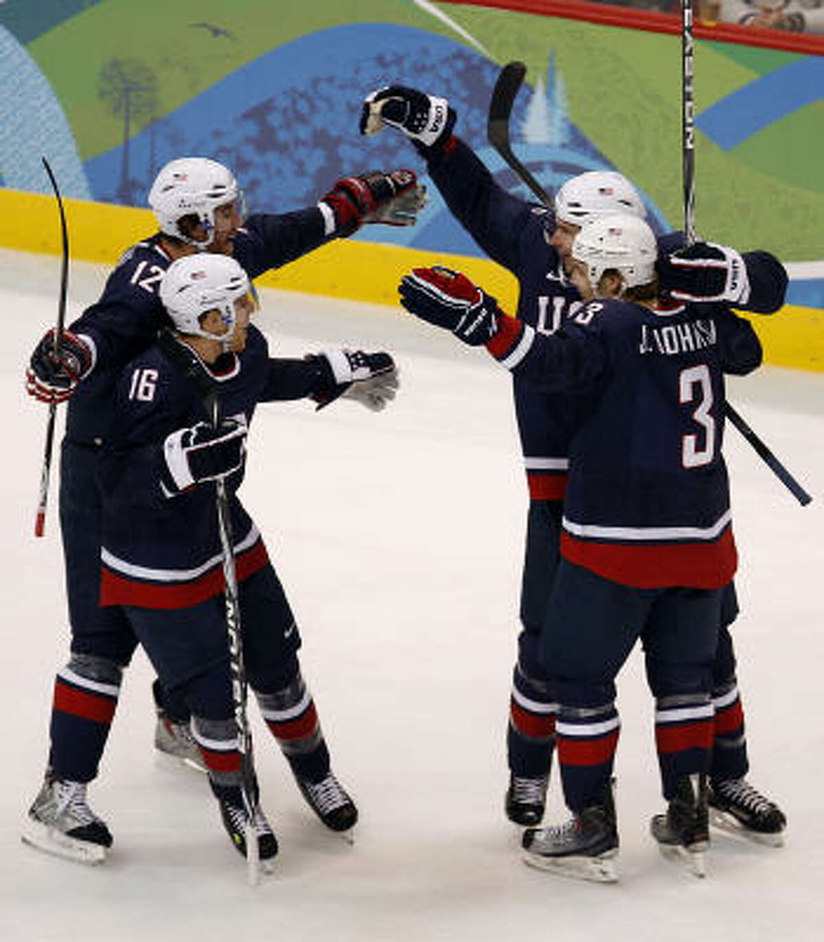 It's another goal and another celebration for the United States, which scored six times.