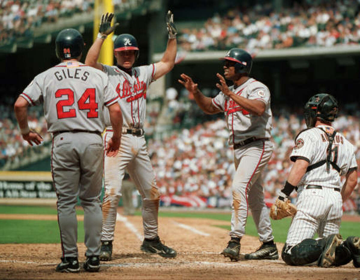 ... the Braves made the Astros pay with four runs in the inning, which included Chipper Jones' 3-run homer to seal the Braves' 7-4 win.