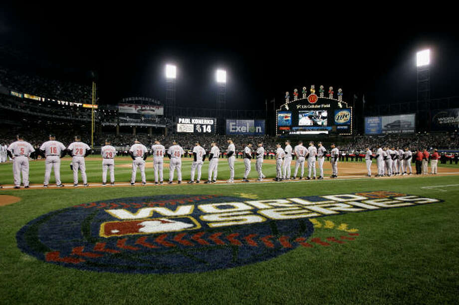 The Astros and Chicago White Sox met in the 2005 World Series.  For the White Sox, it had been a 46-year wait to reach the World Series.  The Astros were making their first trip to the Fall Classic. Photo: Rich Pilling, Getty Images