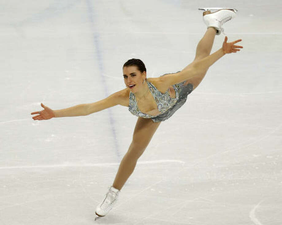Cynthia Phaneuf of Canada ranks No.15 in the standings after her short program. Photo: Paul Chinn, Chronicle Olympic Bureau
