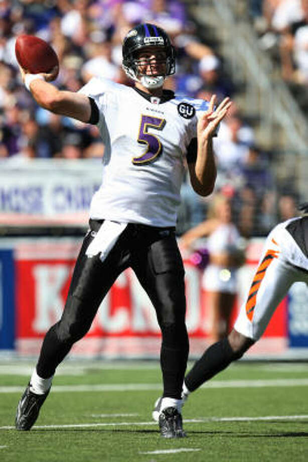 Baltimore RavensNeeds:A big-play wide receiver to provide Joe Flacco (above) a viable target along with venerable Derrick Mason.  Strengths: Running game behind Ray Rice and young offensive line that includes tackles Jared Gaither and Michael Oher. Photo: Ned Dishman, Getty Images