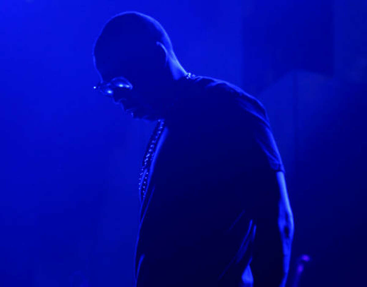 Jay Z performs at the Toyota Center on Monday, Feb. 22, 2010.