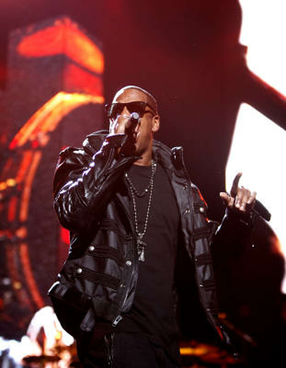 Jay-Z at the Toyota Center on Monday, Feb. 22, 2010.