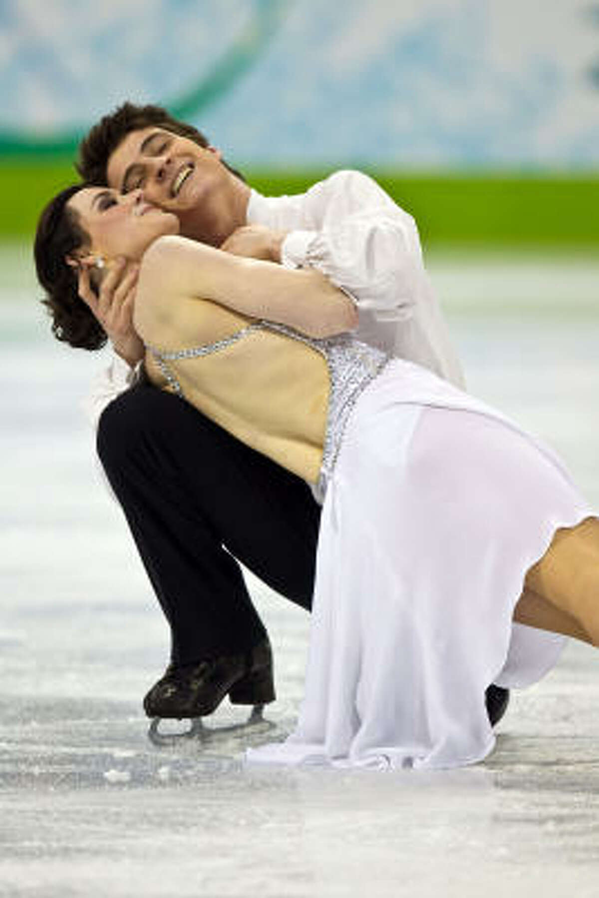 Tessa Virtue and Scott Moir of Canada perform the free skate.