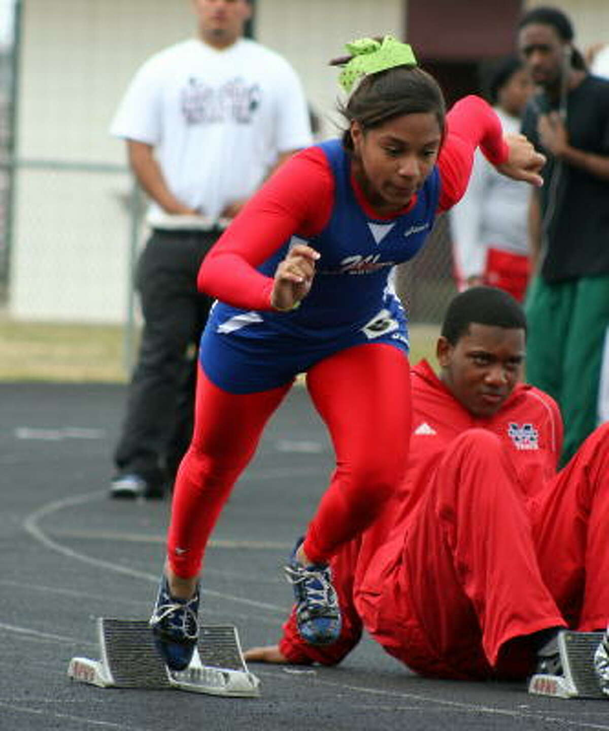 Beaumont West Brook's Karmen Mounton in 100 action