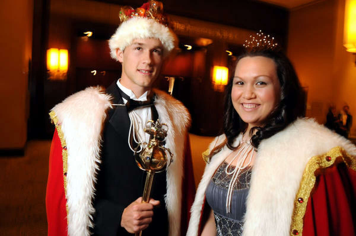 Student king Lukas Simon and queen Emily Calasanz at the University of St. Thomas Court of Diamond Jubilee benefiting the Fr. Francis E. Monaghan Scholarship fund for the education of current and future UST students.