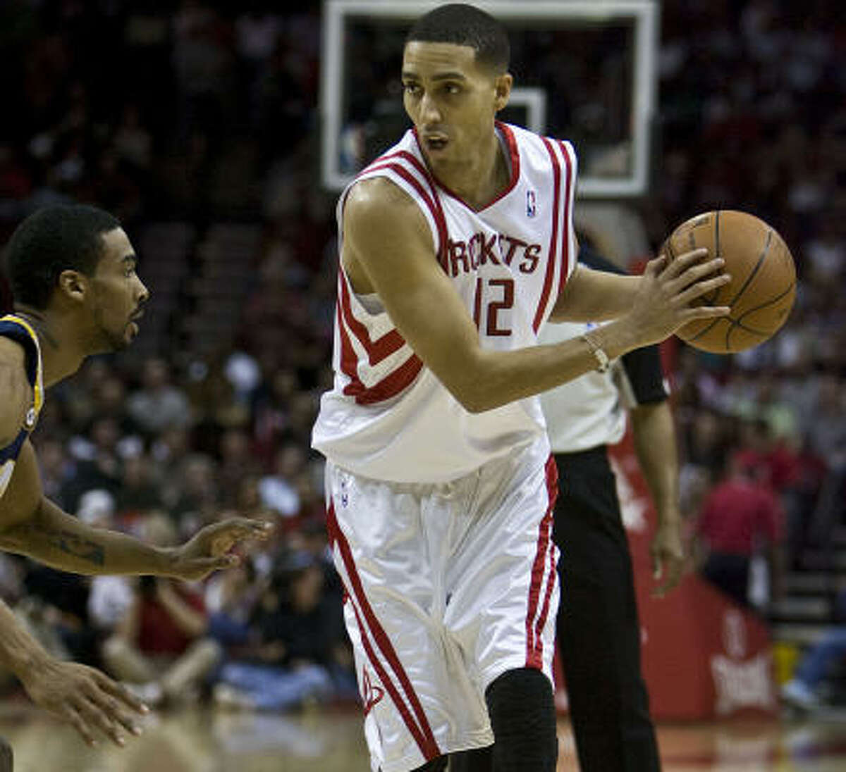 Recently acquired guard Kevin Martin came off the bench in his Rockets debut against the Pacers on Saturday at Toyota Center. He played 31 minutes and shot only 3-of-16 for 14 points, as the Rockets fell 125-115.