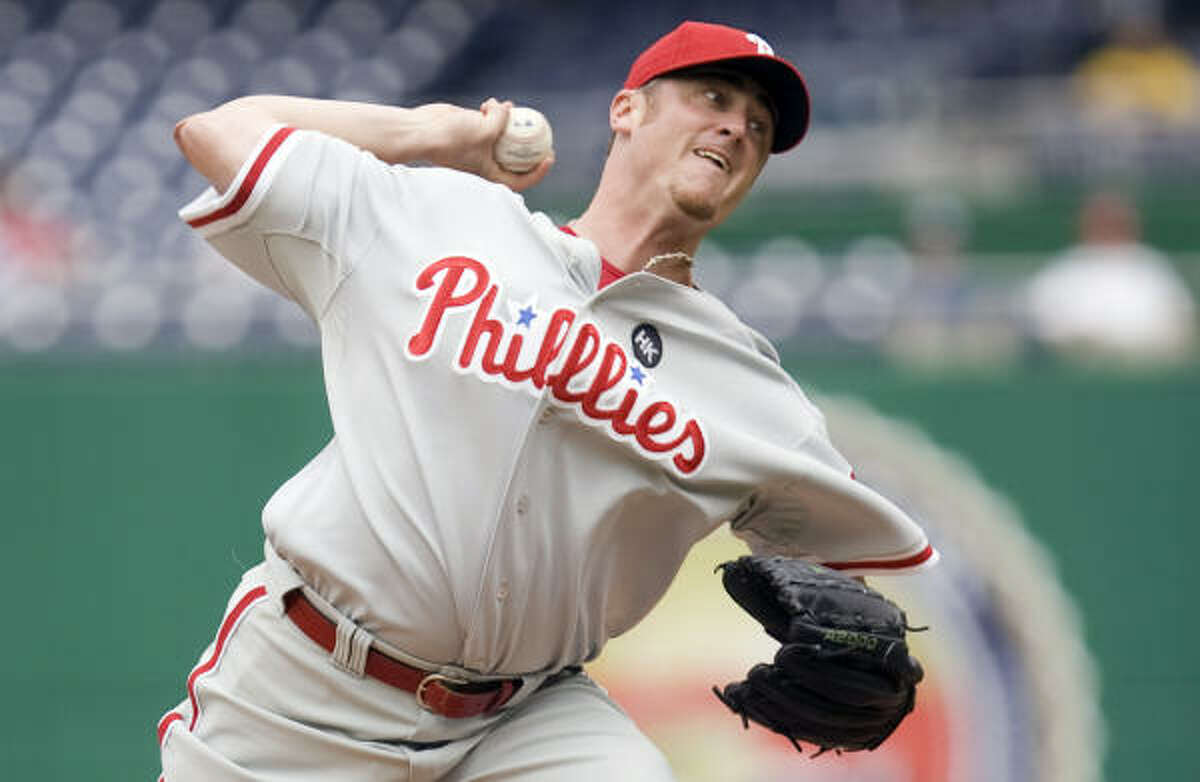 Brett Myers, RHP 2009 stats: 4-3, 4.84 ERA, 70 2/3 IP (with Phillies)