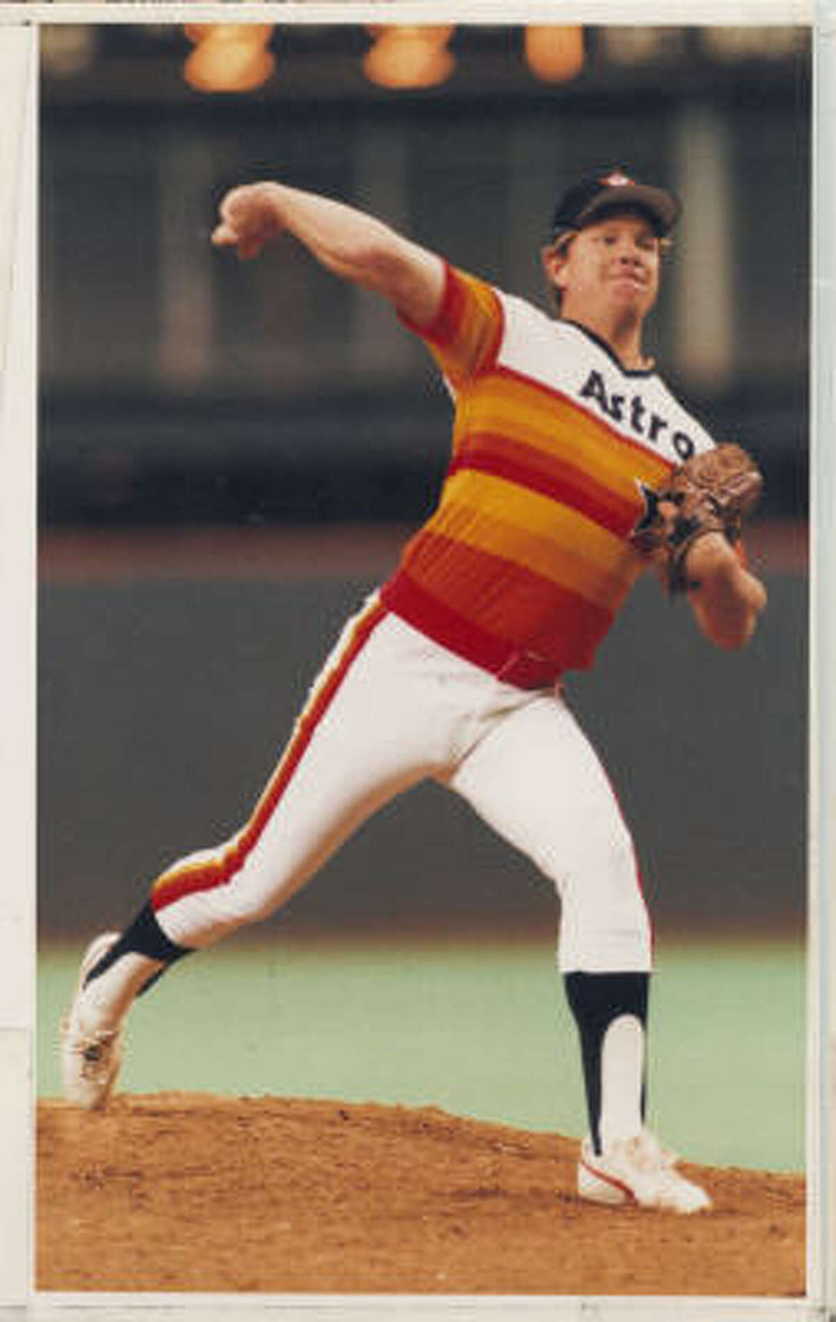 Let's not forget the one-of-a-kind rainbow jersey worn by the Astros from 1975-79.