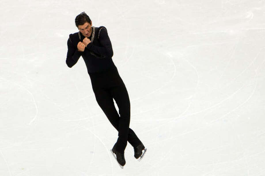 Evan Lysacek finished with the highest score in the short and long program, making him the first U.S. men's skater to win gold since Brian Boitano in 1988. Photo: Smiley N. Pool, Chronicle Olympic Bureau