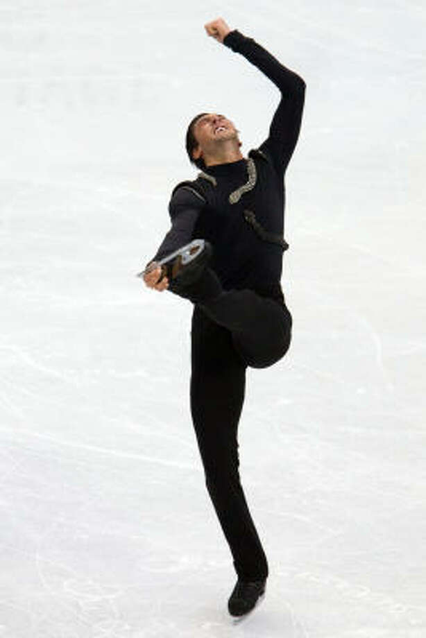Evan Lysacek skated a clean, precise long program. Photo: Smiley N. Pool, Chronicle Olympic Bureau
