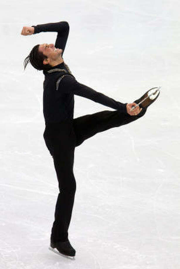 Evan Lysacek of the U.S. performs his long program. Photo: Smiley N. Pool, Chronicle Olympic Bureau