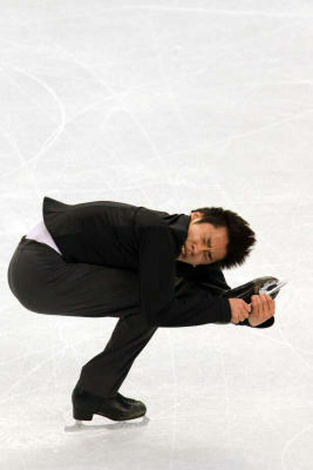 Nobunari Oda of Japan performs his long program in the mens' figure skating competition. Photo: Smiley N. Pool, Chronicle Olympic Bureau
