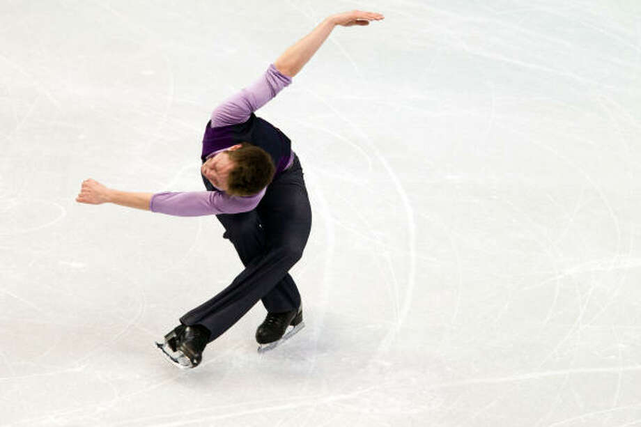 Jeremy Abbott of the United States was in 15th place after the short program. Photo: Smiley N. Pool, Chronicle Olympic Bureau