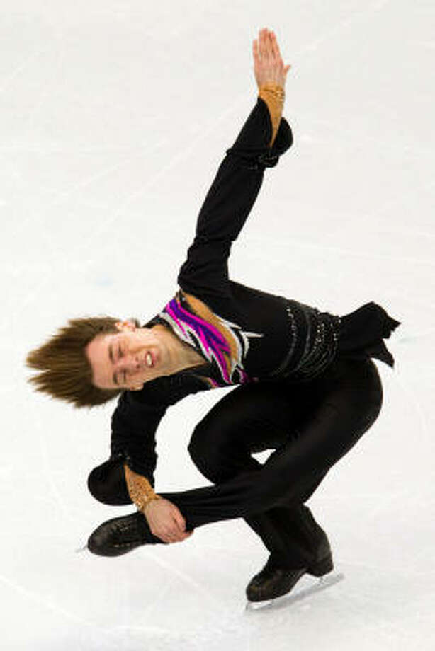 Gregor Urbas of  Slovakia performs his short program during men's figure skating at the 2010 Vancouver Games. Photo: Smiley N. Pool, Chronicle Olympic Bureau
