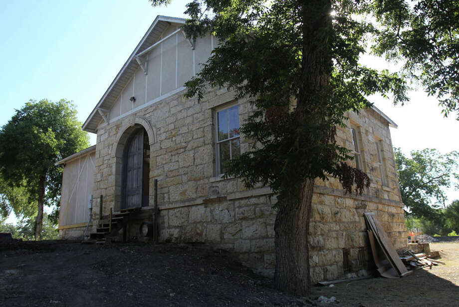 This building at the site of Brackenridge Golf Course was originally a water pumping station and later was used as a studio by artist Gutzon Borglum, who created Mount Rushmore. The building is currently going through a restoration process and will be used by the Texas Golf Hall of Fame and museum project. Photo: JOHN DAVENPORT / jdavenport@express-news.net