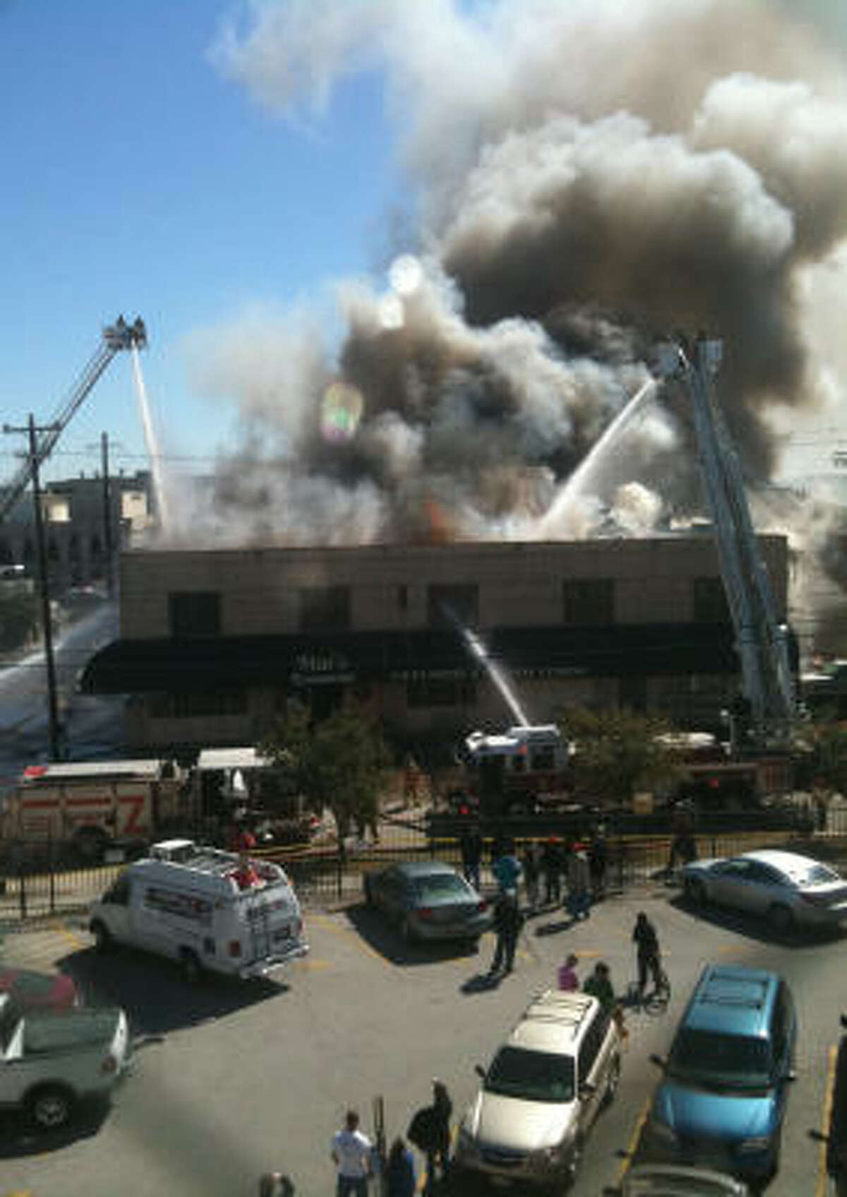 Mai's Restaurant, 3403 Milam, caught fire before 11 a.m Monday morning.