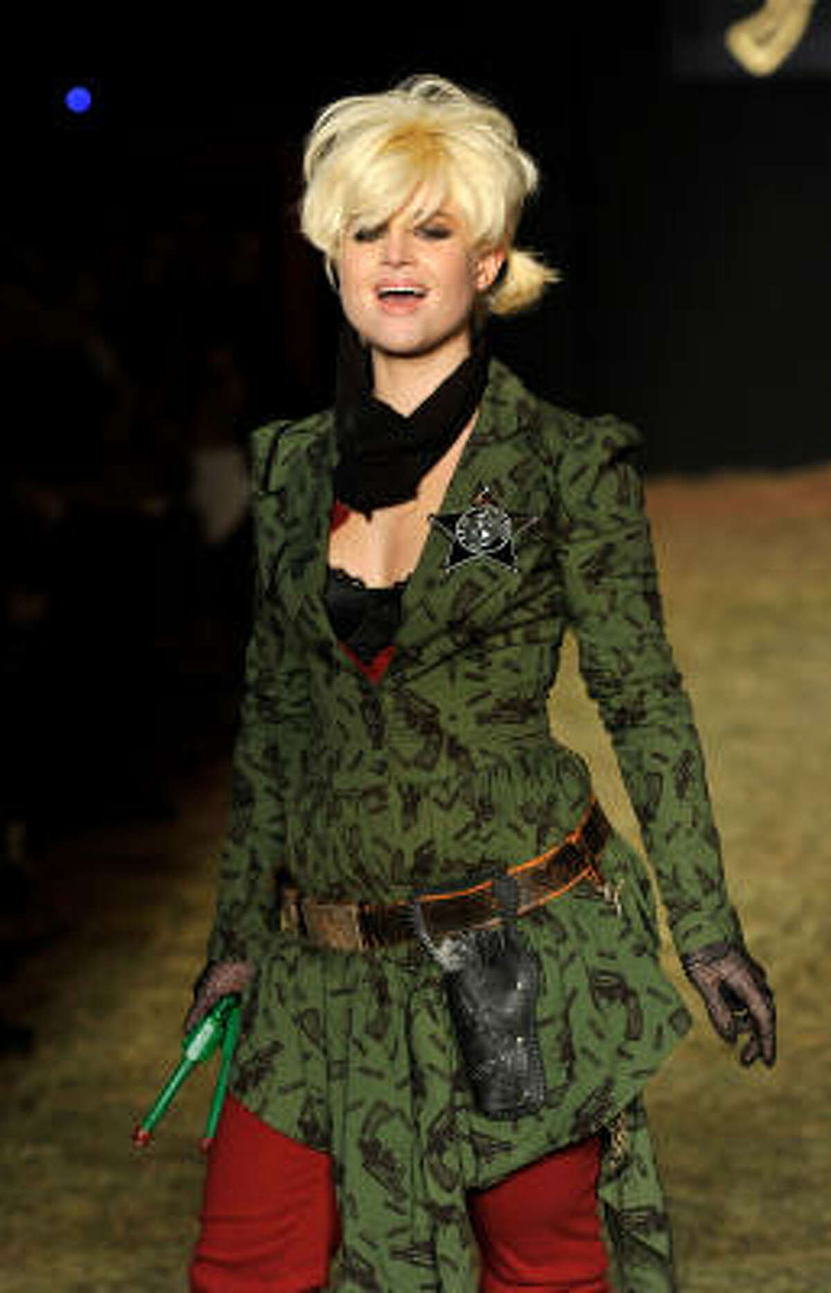 Kelly Osbourne walks the runway at the Betsey Johnson Fall 2010 Fashion Show during Mercedes-Benz Fashion Week. See other celebrities that made it to The Big Apple this week.