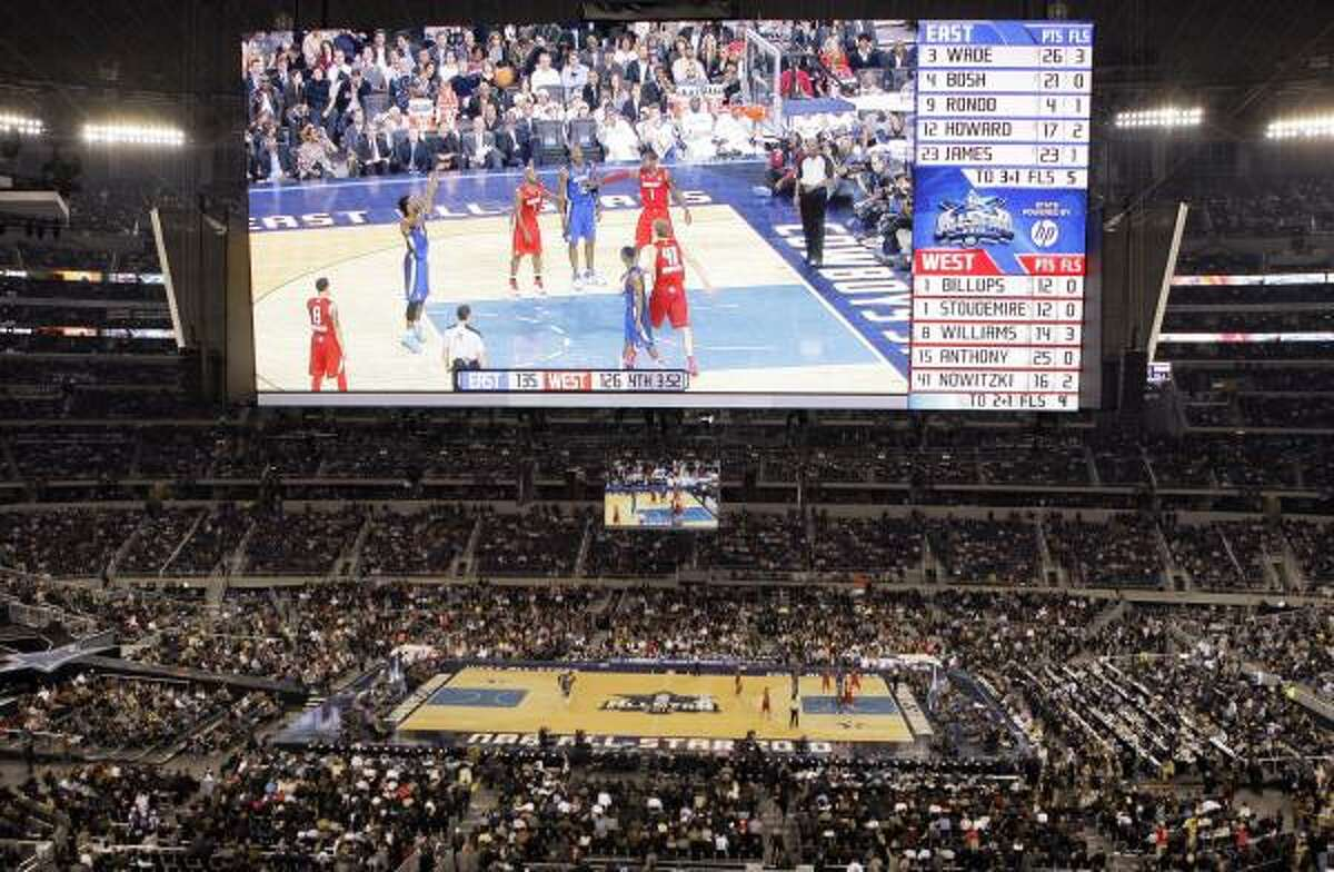 A record crowd of 108,713 attended Sunday's NBA All-Star Game at Cowboys Stadium.