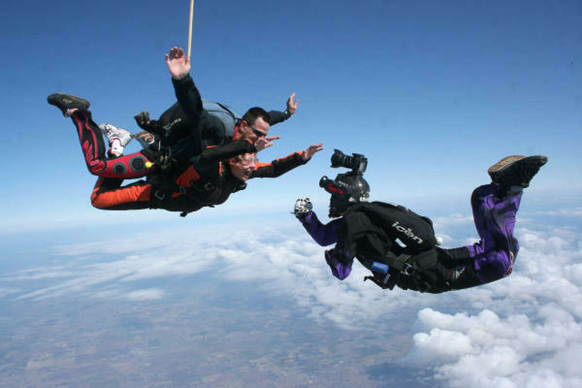 SkydivingWhat: Jump from a plane and, assuming all goes to plan, freefall safely back down to Earth.Where: Skydive SpacelandAddress: 16111 FM 521 in RosharonTickets: First-time jumps start at $199Website: skydivespaceland.com
