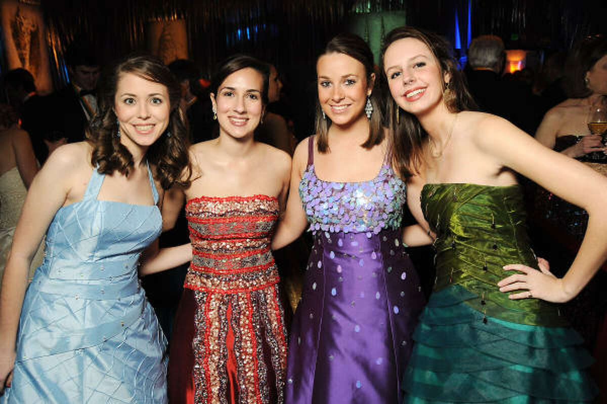 From left: Knights of Momus Duchesses Margo Flynn, Courtney Jay, Katie Nelson and Katy Odom