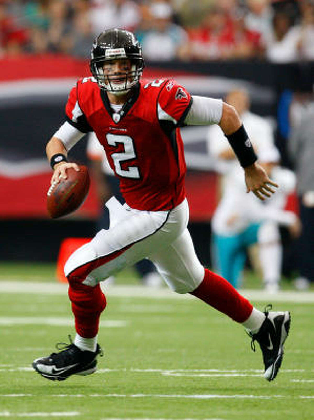 Atlanta Falcons Needs: More offensive consistency; another solid WR; steadier secondary; more dangerous pass rush. Strengths: QB Matt Ryan (top photo), WR Roddy White, ageless TE Tony Gonzalez; budding linebackers.