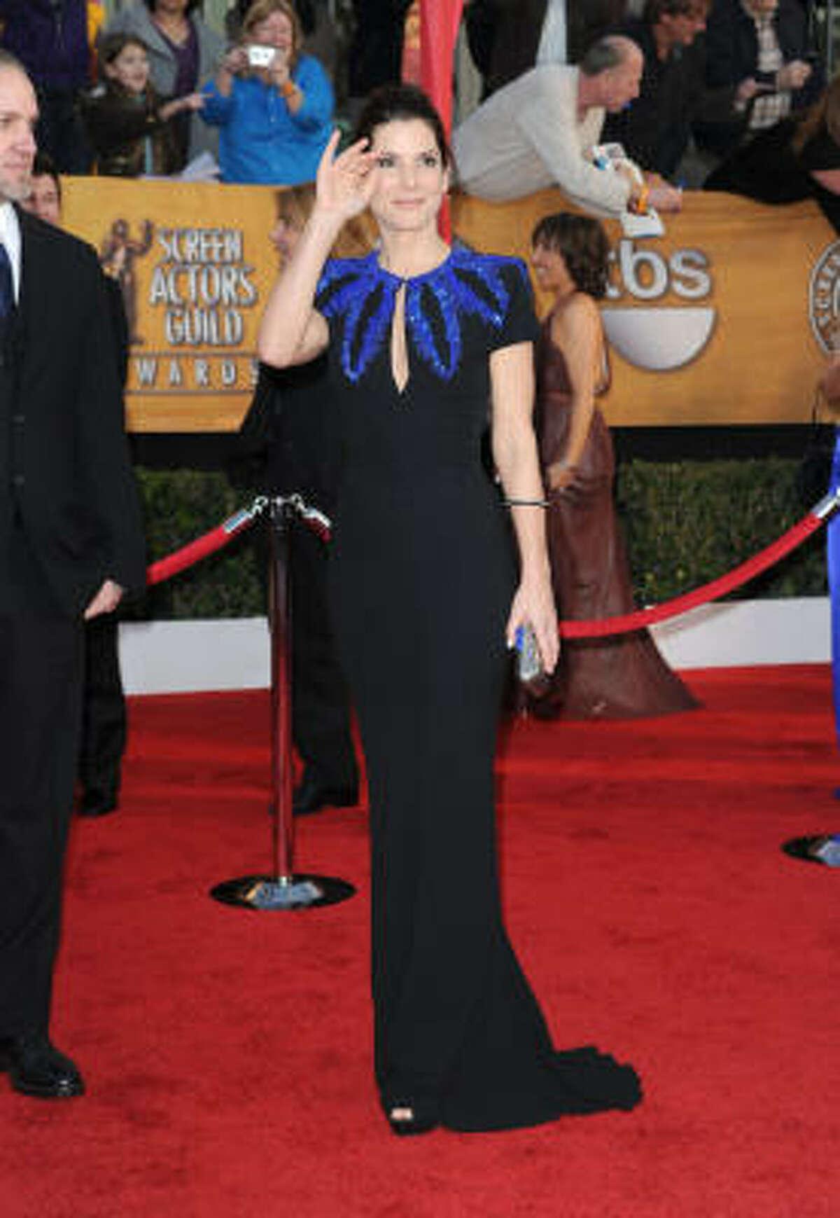 Sandra Bullock wore an Alexander McQueen to the Screen Actors Guild Awards in January.