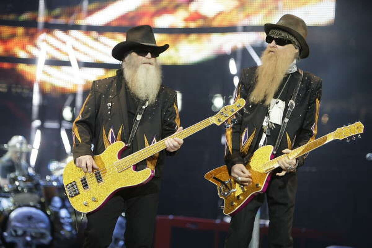 Houston-born legends ZZ Top, though ranked on VH1's