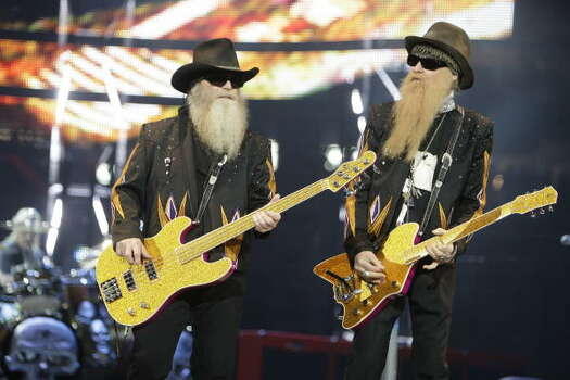 "Houston-born legends ZZ Top, though ranked on VH1's ""100 Greatest Artists of Hard Rock"", have a distinct blues bent to their music. Photo: Melissa Phillip, Houston Chronicle"