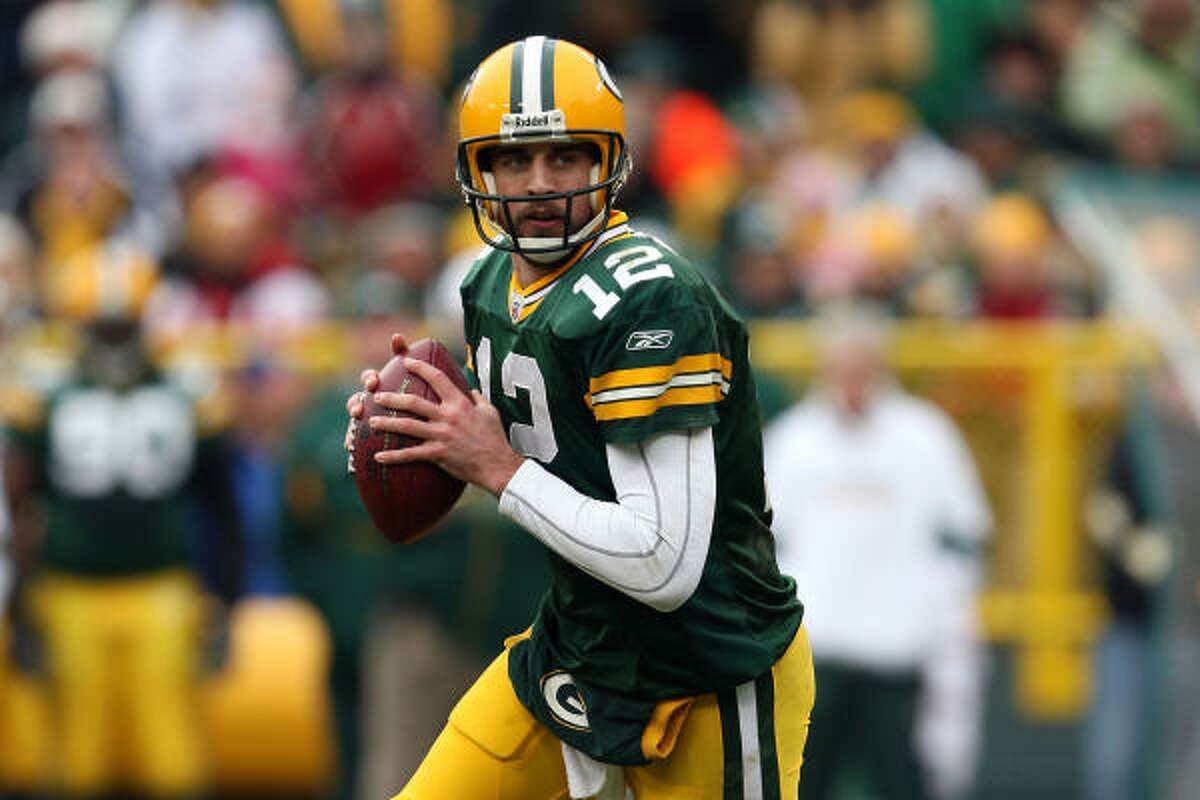 Green Bay Packers Needs: Offensive line, where veteran OTs Chad Clifton and Mark Tauscher are free agents. Strengths: Passing game with rising star Aaron Rodgers (top photo); defensive line; inside linebacker.