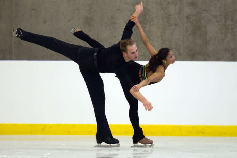 U.S. pairs figure skaters Amanda Evora and Mark Ladwig finished in the top 3, earning a spot on the U.S. Olympic Team. Photo: Smiley N. Pool, Chronicle