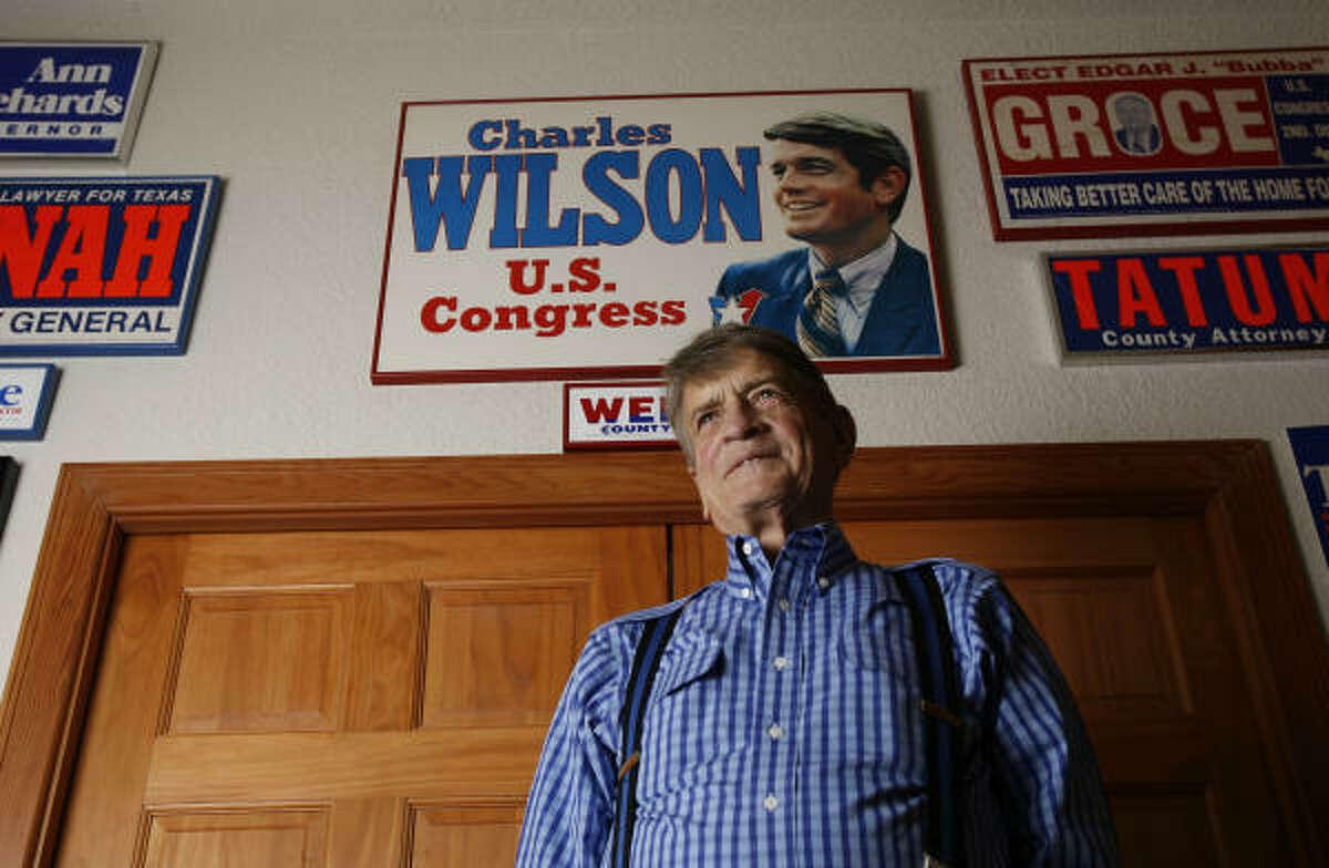 Former U.S. Congressman Charlie Wilson at his home in Lufkin, March 8, 2007.