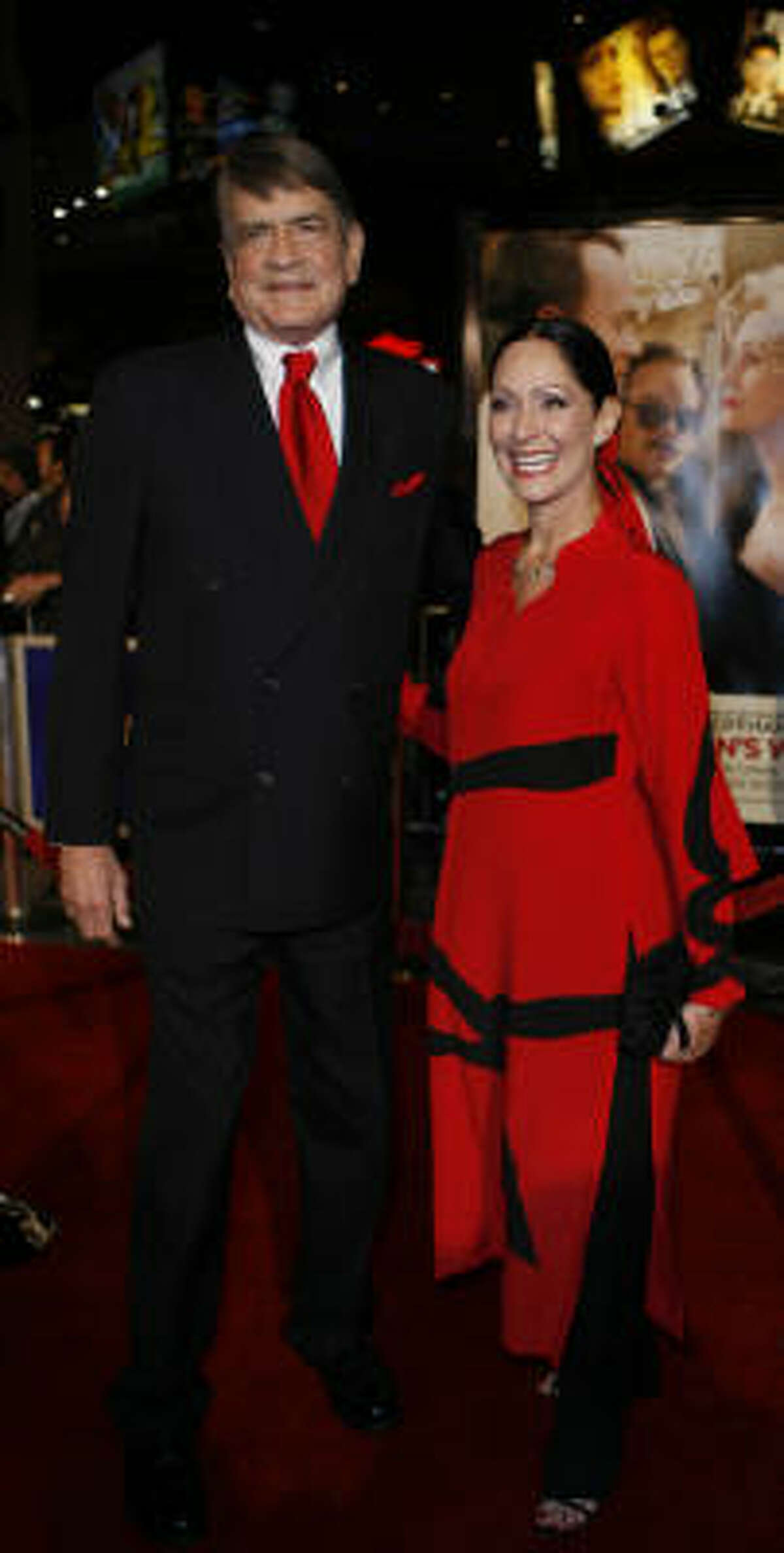 Charlie Wilson and his wife, Barbara, attend the premiere of Charlie Wilson's War at Universal Studios in Los Angeles.