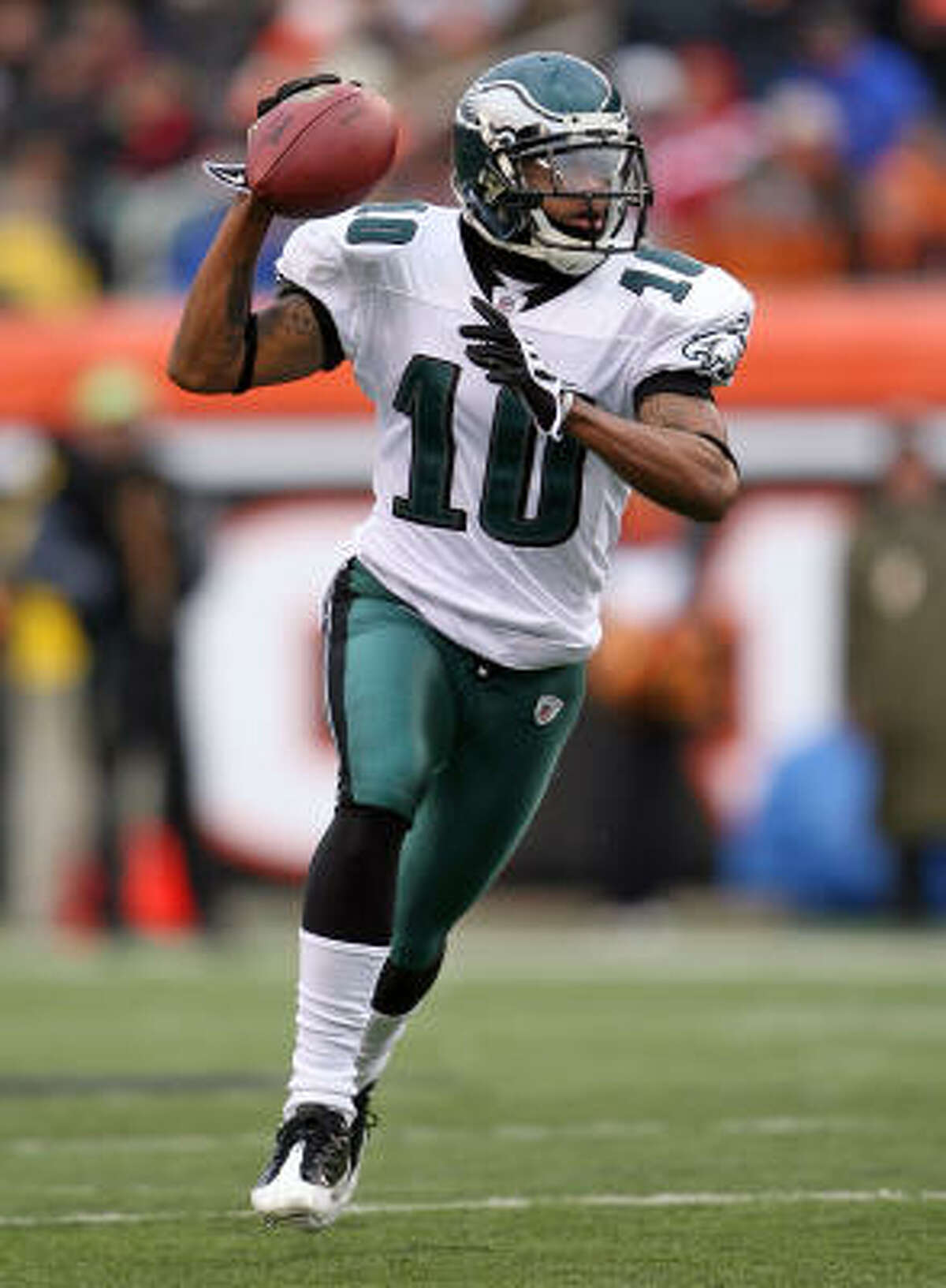 Philadelphia Eagles Needs: Help on defense: pass-rushing end, linebackers, strong safety. Strengths: Young, talented group at offensive skill positions, including wide receiver DeSean Jackson (top photo).