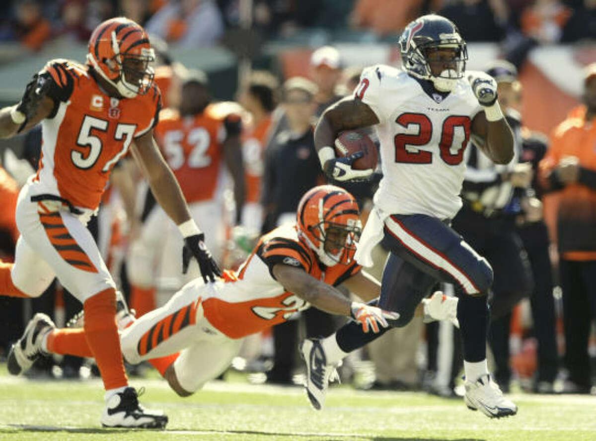 Steve Slaton Position: Running back Rushing yards: 437