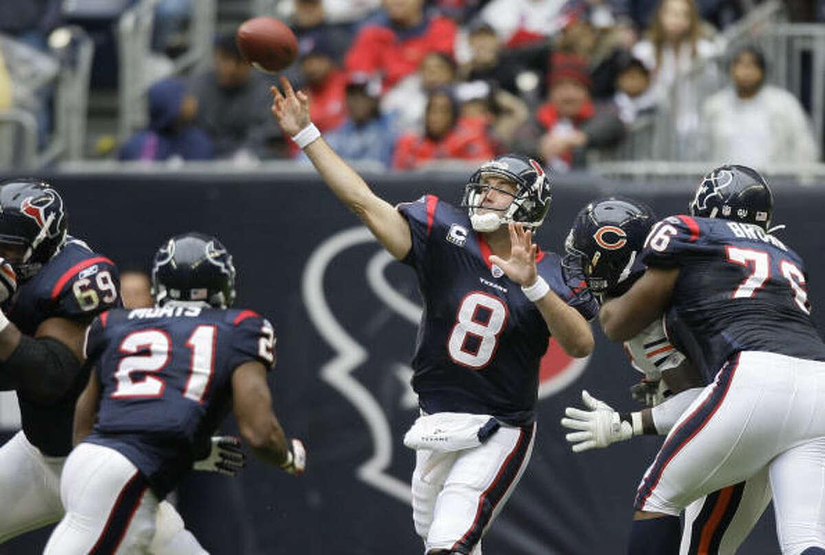 Matt Schaub Position: Quarterback Passing yards: 3,043