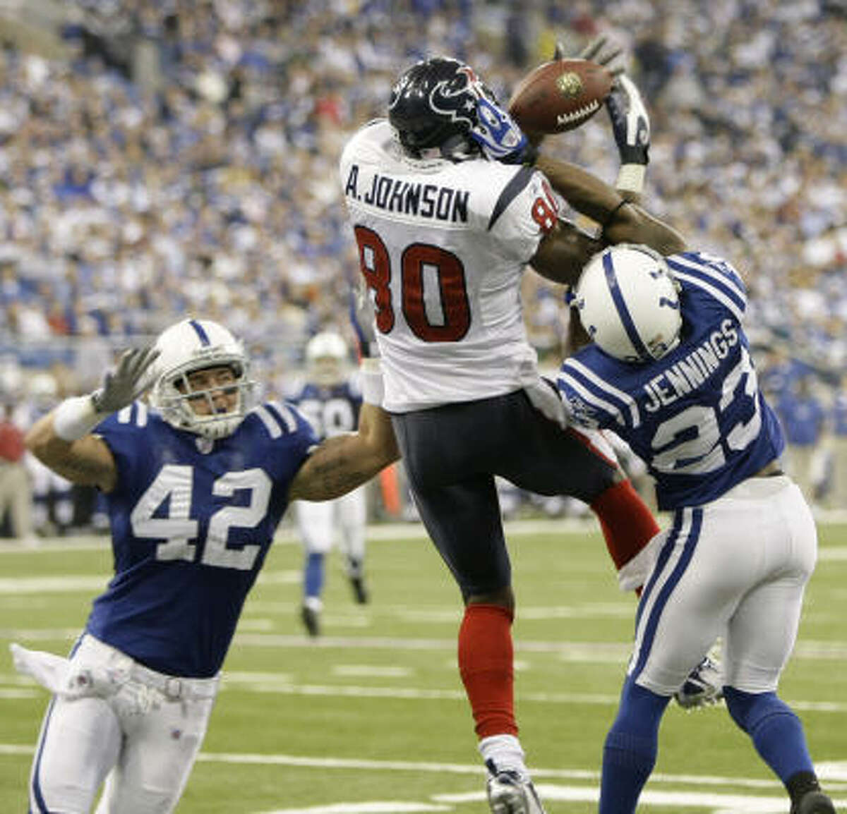 Andre Johnson Position: Wide receiver Receiving yards: 1,142