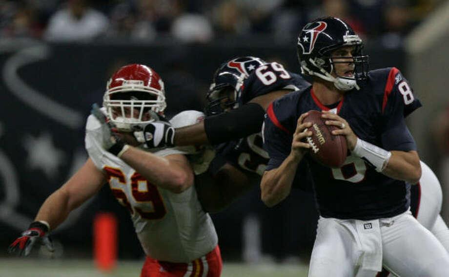 David Carr Position: Quarterback Passing yards: 3,425 Photo: KAREN WARREN, CHRONICLE