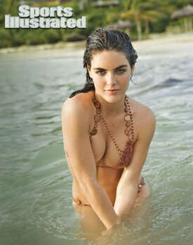 Hilary Rhoda will be in the latest issue of Sports Illustrated's swimsuit edition. Photo: Raphael Mazzucco, AP