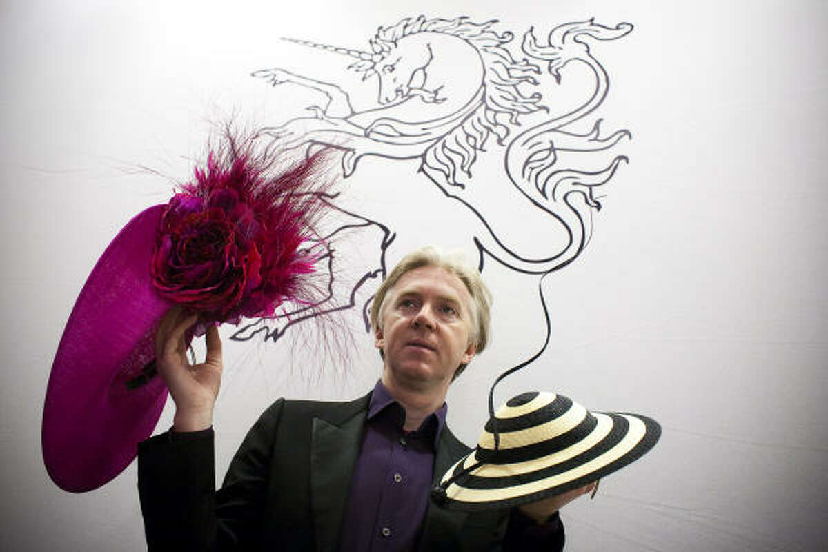 Philip Treacy is known as the hatmaker to the stars. His style is very out-there. Take a look at his designs and who's worn them. To read more about him, click here.