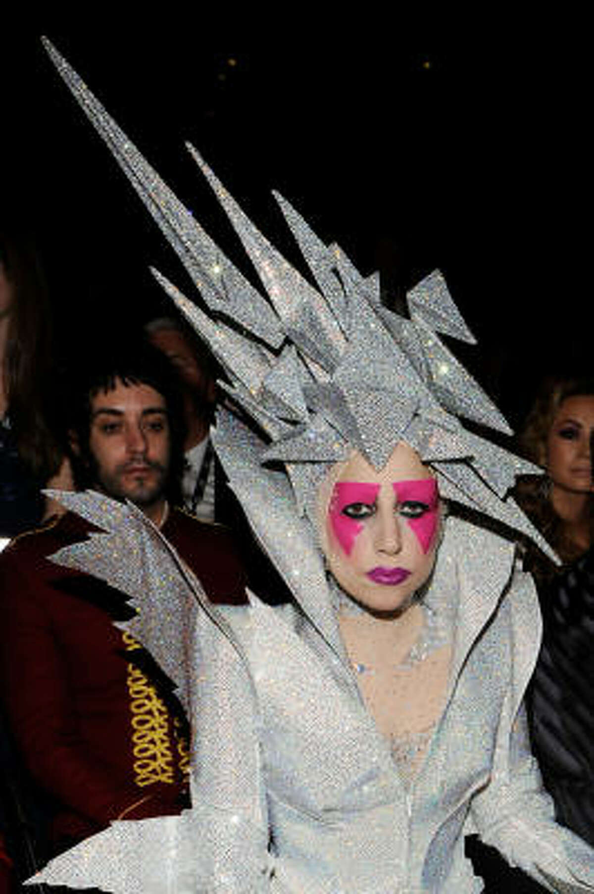 He designed this meteorite headpiece Lady Gaga wore to the Grammys.