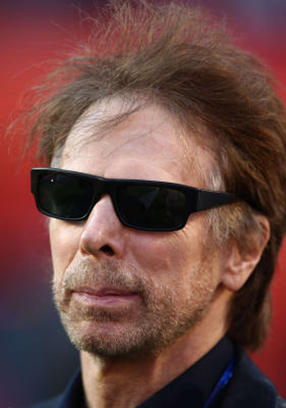 Producer Jerry Bruckheimer is seen prior to Super Bowl XLIV.