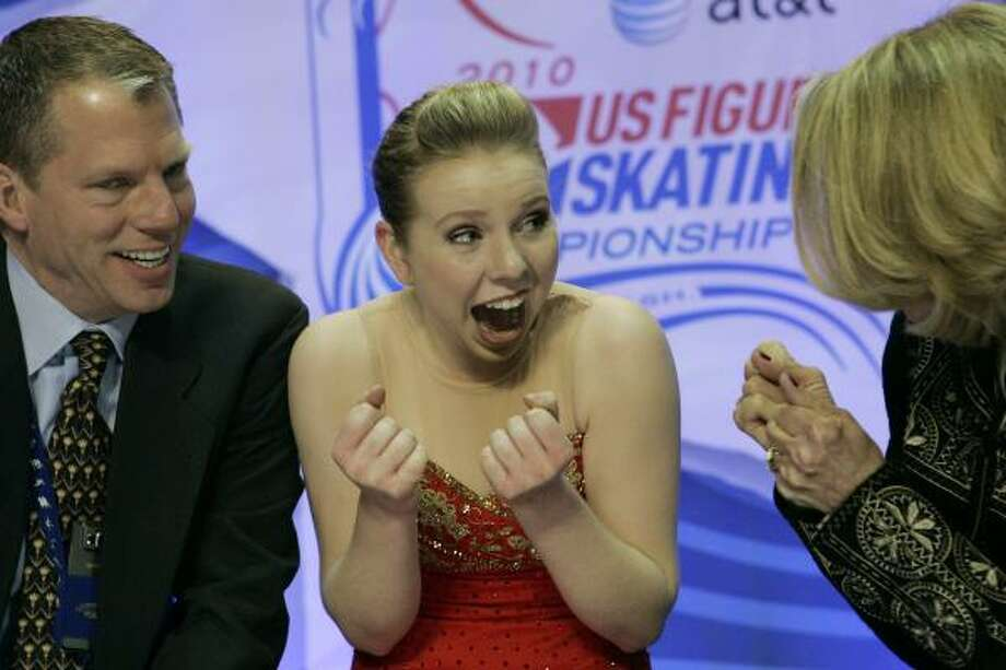 RACHAEL FLATT The leader of the U.S. women's figure skating team wowed judges by doing seven triple jumps in her long program in the U.S. finals. Picking a technically difficult program got her the win. Photo: Elaine Thompson, AP