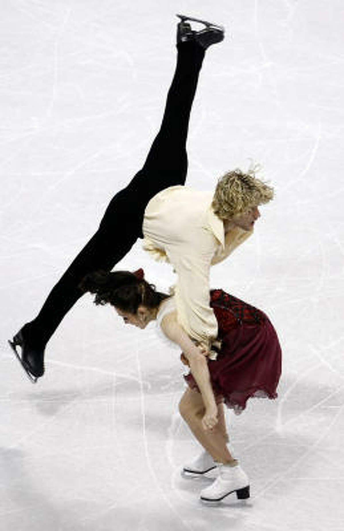 MERYL DAVIS and CHARLIE WHITE The lead U.S. ice dancers grabbed their second consecutive title in Spokane. Amy Shipley of the Washington Post said they won by relying