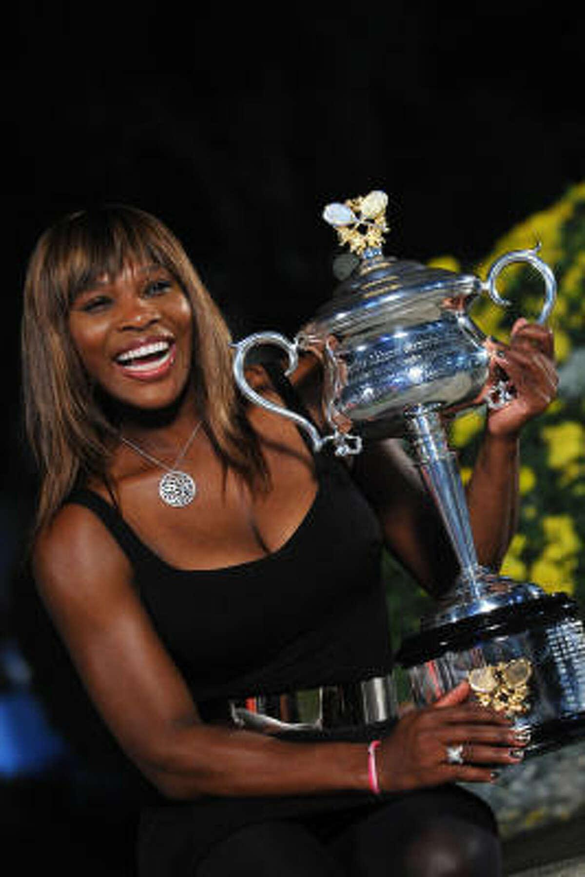 Tennis star Serena Williams: