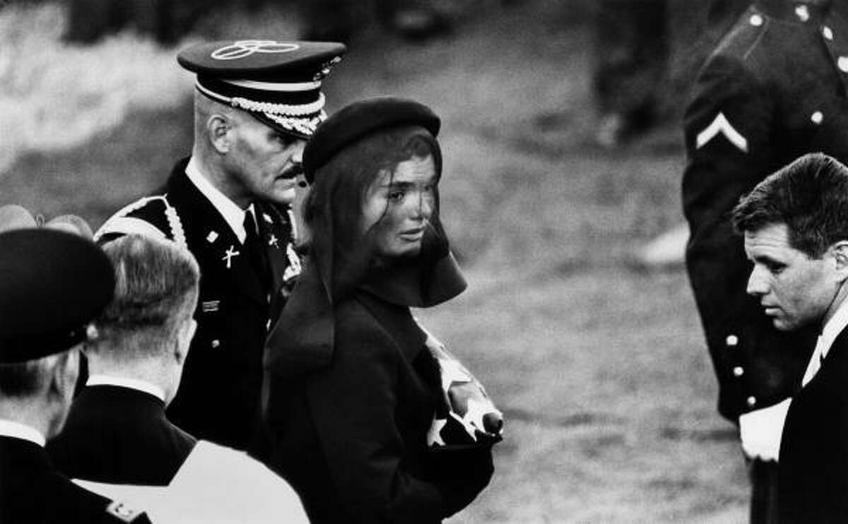First lady Jacqueline Kennedy at John F. Kennedy's funeral.